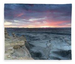 Utah Desert Sunrise Fleece Blanket