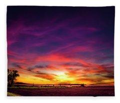 Valentine Sunset Fleece Blanket