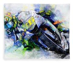 Valentino Rossi - 20 Fleece Blanket