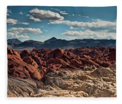 Valley Of Fire Rugged Colors Fleece Blanket