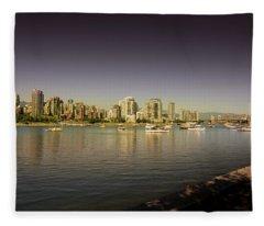 Vancouver In Magical Hours Fleece Blanket