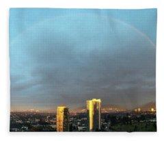 Vancouver Rainbow Fleece Blanket