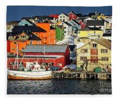 Vardo Town Norway Fleece Blanket
