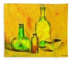 Various Ancient Bottles - Da Fleece Blanket