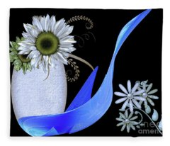 Vase And Swan Fleece Blanket