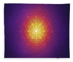 Vector Equilibrium Fleece Blanket