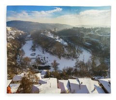 Veliko Turnovo City Fleece Blanket