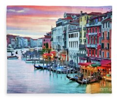 Venetian Sunset Fleece Blanket