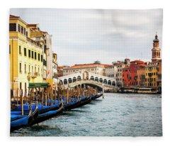 Venice And The Rialto  Fleece Blanket