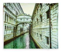 Venice Bridge Of Sighs Fleece Blanket