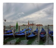 Venice Gondola's Grand Canal Fleece Blanket