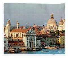 Venice Sunset Fleece Blanket