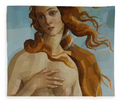 Venus After Botticelli Fleece Blanket