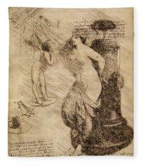 Venus Weigh Cupid Fleece Blanket