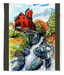 Vermont Red Fleece Blanket