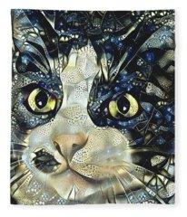 Versacci The Black And White Rescue Cat Fleece Blanket