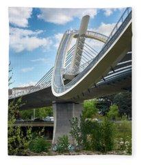Vertical View Of The Millennium Bridge In Ourense Fleece Blanket