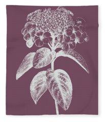 Viburnum Blush Purple Flower Fleece Blanket