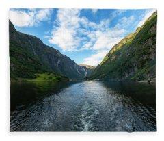 View Back To Gudvangen, Norway Fleece Blanket