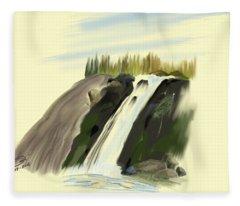 View Below The Falls Fleece Blanket
