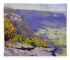 View From Hassons Wall Lithgow Fleece Blanket