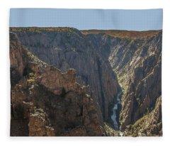 View From Kneeling Camel Overlook Black Canyon Of The Gunnison Fleece Blanket