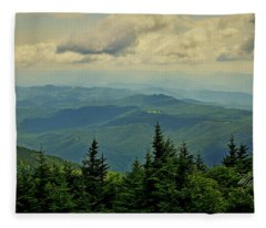 View From Mount Mitchell Fleece Blanket