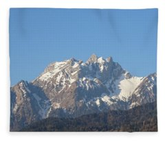 View From My Art Studio - Pilatus I - April 2019 Fleece Blanket