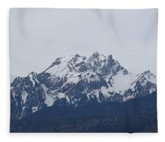 View From My Art Studio - Pilatus - March 2018 Fleece Blanket