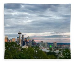 View From Queen Anne, Fleece Blanket