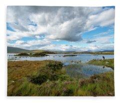 View In Glencoe, Scotland Fleece Blanket