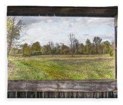 View Into Ohio's Nature Fleece Blanket