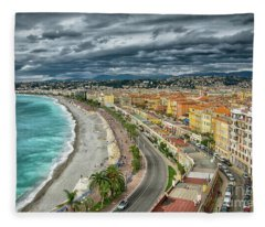 View Of Nice France From Castle Hill Fleece Blanket