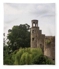 View Of The Blarney Tower Fleece Blanket