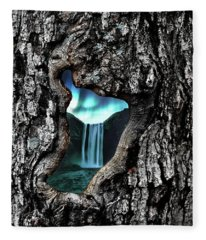 Fleece Blanket featuring the photograph View To Another World  by Andrea Kollo