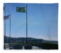 Viewing Circle At Grand Ave Park Fleece Blanket