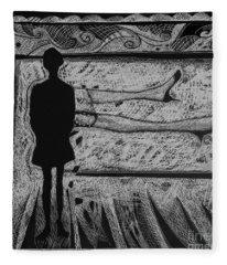 Viewing Supine Woman. Fleece Blanket