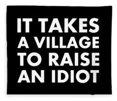 Village Idiot Wt Fleece Blanket