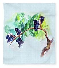 Vine And Branch Fleece Blanket