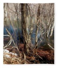 Vines In A Floodplain Forest Fleece Blanket