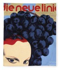 Vintage Bauhaus Glamour Poster Fleece Blanket