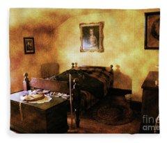 Vintage Bedroom 1800's Fleece Blanket