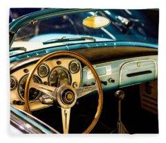 Vintage Blue Car Fleece Blanket