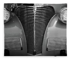 Vintage Chevy Coupe Fleece Blanket