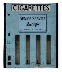 Senior Service Vintage Cigarette Vending Machine Fleece Blanket