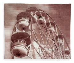 Vintage Ferris Wheel Fleece Blanket