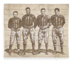 Vintage Football Heroes Fleece Blanket