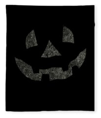 Vintage Pumpkin Face Fleece Blanket