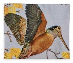 Vintage Woodcock Fleece Blanket