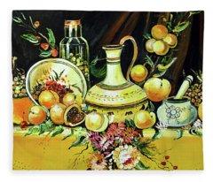 Vintahe Table Fleece Blanket